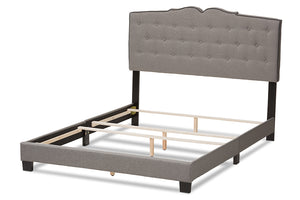Baxton Studio Vivienne Modern and Contemporary Light Grey Fabric Upholstered Full Size Bed Image 7