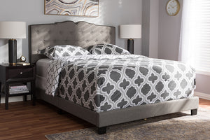 Baxton Studio Vivienne Modern and Contemporary Light Grey Fabric Upholstered King Size Bed Image 10