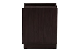 Baxton Studio Larsine Modern and Contemporary Brown Finished 2-Drawer Nightstand Image 8