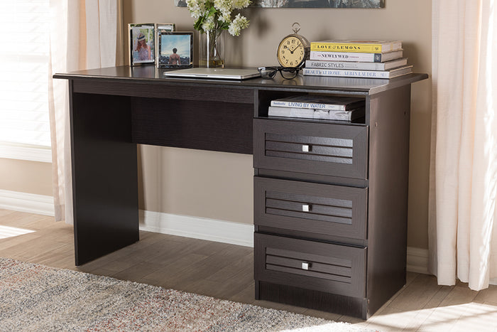 Baxton Studio Carine Modern and Contemporary Wenge Brown Finished Desk