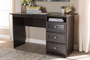 Baxton Studio Carine Modern and Contemporary Wenge Brown Finished Desk Image 4