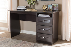 Baxton Studio Carine Modern and Contemporary Wenge Brown Finished Desk Image 10
