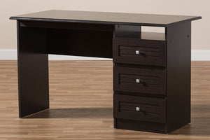 Baxton Studio Carine Modern and Contemporary Wenge Brown Finished Desk Image 11