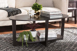 Baxton Studio Jacintha Modern and Contemporary Wenge Brown Finished Coffee Table-Coffee Tables-HipBeds.com