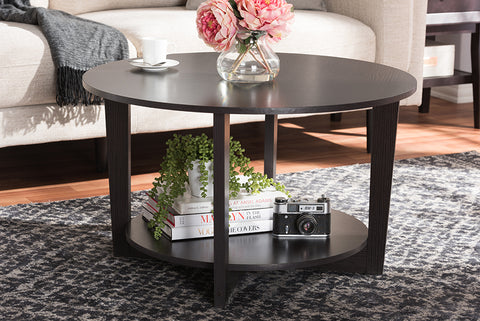 Baxton Studio Belina Modern and Contemporary Wenge Brown Finished Coffee Table-Coffee Tables-HipBeds.com