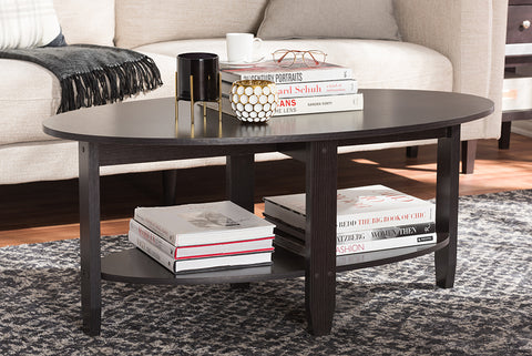 Baxton Studio Ancelina Modern and Contemporary Wenge Brown Finished Coffee Table-Coffee Tables-HipBeds.com