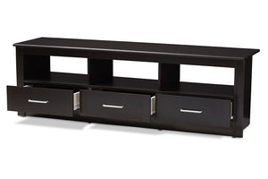 Baxton Studio Ryleigh Modern and Contemporary Wenge Brown Finished TV Stand Image 6