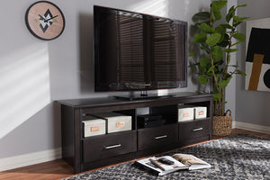 Baxton Studio Ryleigh Modern and Contemporary Wenge Brown Finished TV Stand Image 3