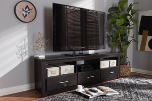 Baxton Studio Ryleigh Modern and Contemporary Wenge Brown Finished TV Stand Image 4