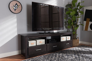 Baxton Studio Ryleigh Modern and Contemporary Wenge Brown Finished TV Stand Image 11