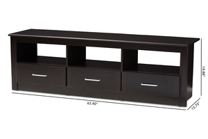 Baxton Studio Ryleigh Modern and Contemporary Wenge Brown Finished TV Stand Image 13
