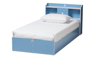 Baxton Studio Aeluin Contemporary Children's Blue and White Finished 2-Piece Bedroom Set Image 5