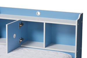 Baxton Studio Aeluin Contemporary Children's Blue and White Finished 2-Piece Bedroom Set Image 8