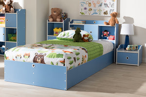 Baxton Studio Aeluin Contemporary Children's Blue and White Finished 2-Piece Bedroom Set Image 3