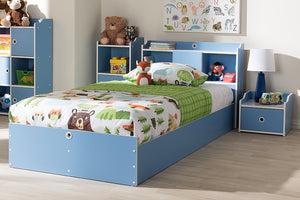 Baxton Studio Aeluin Contemporary Children's Blue and White Finished 2-Piece Bedroom Set Image 4