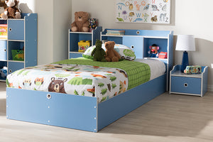 Baxton Studio Aeluin Contemporary Children's Blue and White Finished 2-Piece Bedroom Set Image 10