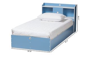 Baxton Studio Aeluin Contemporary Children's Blue and White Finished 2-Piece Bedroom Set Image 13