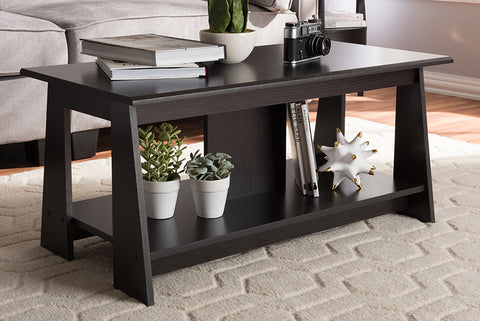 Baxton Studio Fionan Modern and Contemporary Wenge Brown Finished Coffee Table-Coffee Tables-HipBeds.com