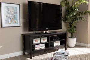 Baxton Studio Sloane Modern and Contemporary Wenge Brown Finished TV Stand-TV Stands-HipBeds.com