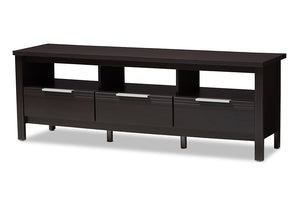 Baxton Studio Elaine Modern and Contemporary Wenge Brown Finished TV Stand Image 5