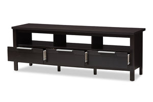 Baxton Studio Elaine Modern and Contemporary Wenge Brown Finished TV Stand Image 6