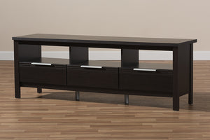 Baxton Studio Elaine Modern and Contemporary Wenge Brown Finished TV Stand Image 12