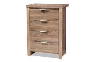 Baxton Studio Laverne Modern and Contemporary Oak Brown Finished 4-Drawer Chest Image 5