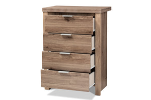Baxton Studio Laverne Modern and Contemporary Oak Brown Finished 4-Drawer Chest Image 6