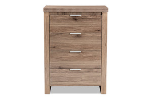Baxton Studio Laverne Modern and Contemporary Oak Brown Finished 4-Drawer Chest Image 8