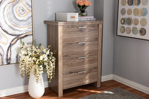 Baxton Studio Laverne Modern and Contemporary Oak Brown Finished 4-Drawer Chest Image 11