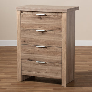 Baxton Studio Laverne Modern and Contemporary Oak Brown Finished 4-Drawer Chest Image 12