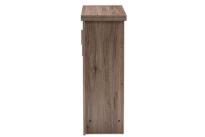 Baxton Studio Laverne Modern and Contemporary Oak Brown Finished Shoe Cabinet Image 8