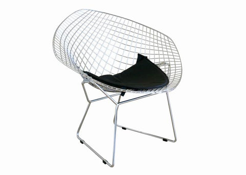 Baxton Studio Bertoia Style Diamond Wire Chair - Set of 2-Chairs-HipBeds.com