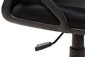 Baxton Studio Ernst Modern and Contemporary Ergonomic Black Mesh Office Chair-Office Chairs-HipBeds.com