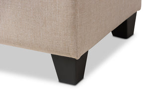 Baxton Studio Michaela Modern and Contemporary Beige Fabric Upholstered Storage Ottoman-Ottomans-HipBeds.com