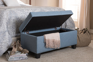 Baxton Studio Michaela Modern and Contemporary Light Blue Fabric Upholstered Storage Ottoman-Ottomans-HipBeds.com