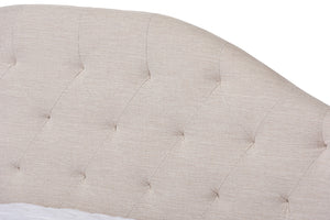Baxton Studio Eliza Modern and Contemporary Light Beige Fabric Upholstered Full Size Daybed Image 8