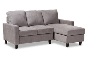 Baxton Studio Greyson Modern And Contemporary Light Grey Fabric Upholstered Reversible Sectional Sofa Image 3