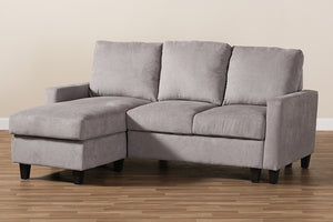 Baxton Studio Greyson Modern And Contemporary Light Grey Fabric Upholstered Reversible Sectional Sofa Image 7