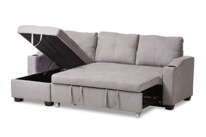 Baxton Studio Lianna Modern and Contemporary Light Grey Fabric Upholstered Sectional Sofa Image 4