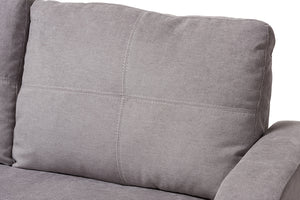 Baxton Studio Lianna Modern and Contemporary Light Grey Fabric Upholstered Sectional Sofa Image 5