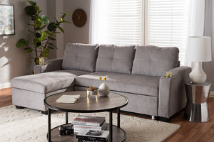 Baxton Studio Lianna Modern and Contemporary Light Grey Fabric Upholstered Sectional Sofa Image 7