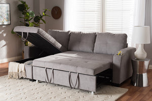 Baxton Studio Lianna Modern and Contemporary Light Grey Fabric Upholstered Sectional Sofa Image 8