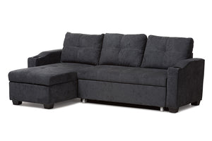 Baxton Studio Lianna Modern and Contemporary Dark Grey Fabric Upholstered Sectional Sofa Image 3