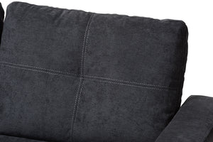 Baxton Studio Lianna Modern and Contemporary Dark Grey Fabric Upholstered Sectional Sofa Image 5