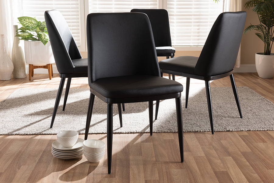 Baxton Studio Darcell Modern and Contemporary Black