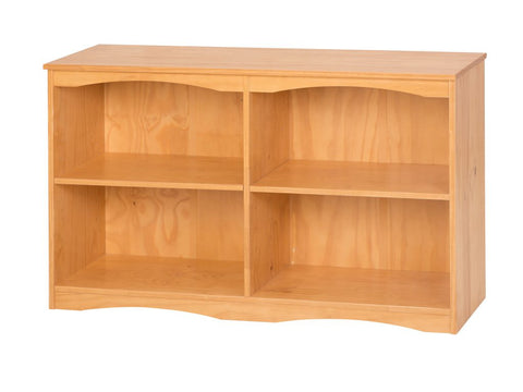 "Camaflexi Bookcase - Essentials Wooden Bookcase 51"" Wide - Natural Finish - 4191-Bookcase-HipBeds.com"