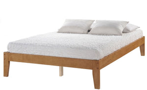 Donco Kids Queen Sovo Medium Oak Bed 945QO-Platform Beds-HipBeds.com