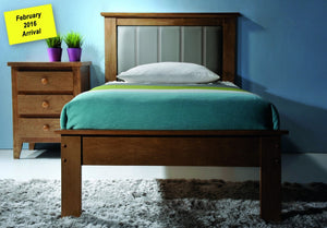 Donco Kids Twin Joshua X Medium Oak Bed k 980-TO-Panel Beds-HipBeds.com