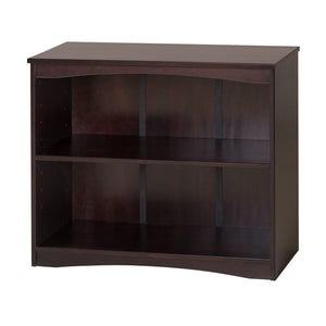 "Camaflexi Bookcase - Essentials Wooden Bookcase 36"" Wide - Cappuccino Finish - 4182-Bookcase-HipBeds.com"